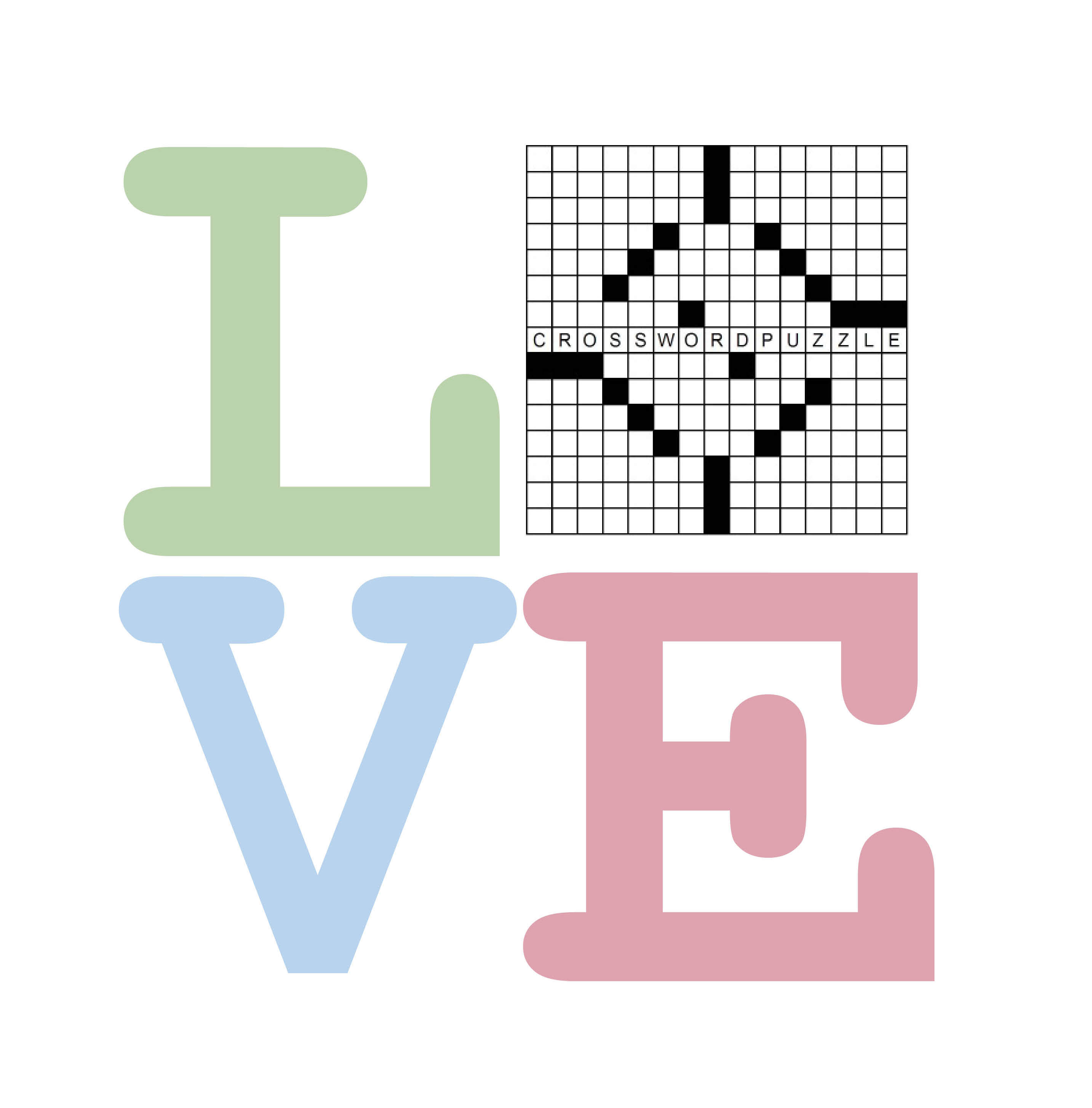 Crossword Love Cup Pastels