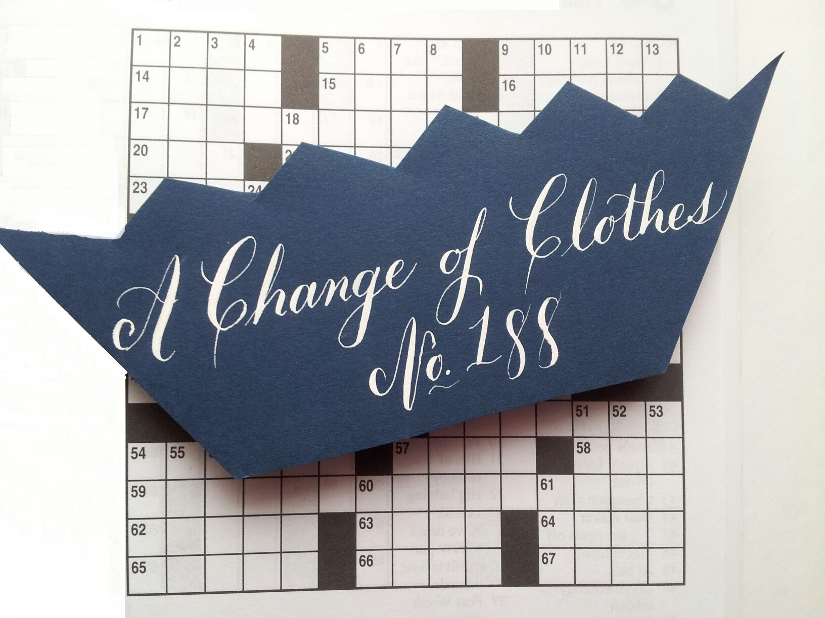 """Crossword Nation: """"A Change of Clothes"""" Week 188"""