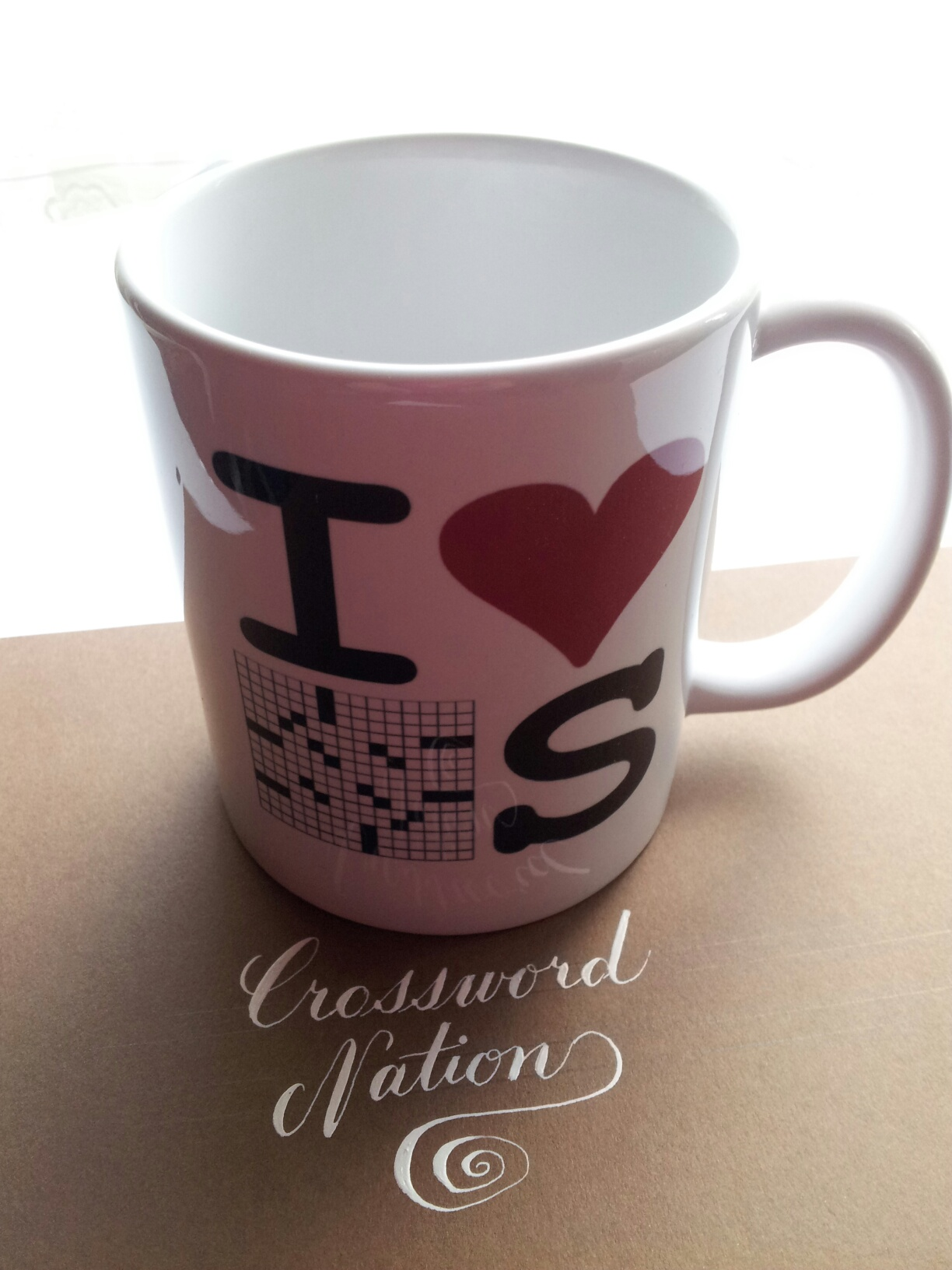"""I Love Crosswords"" Mug"